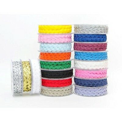 Ric Rac Trimming by Super Ribbons Collection Width 6mm Length 5m to 20mm