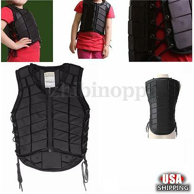Kids Sizes Horse Riding Equestrian Body Protective Safety Eventer Vest Protector