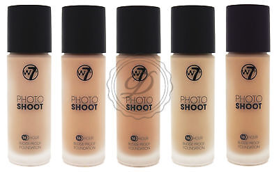W7 Photo Shoot Foundation - Flawless Coverage Matte Liquid Glass Bottle Fair