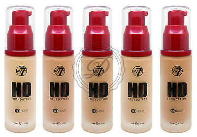 W7 HD Foundation - Creamy Liquid Moisturiser Foundation Pale Fair Coverage Face