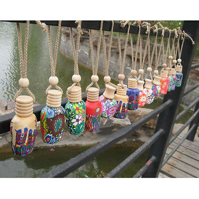 Car Air Freshener Hand Crafted Hanging Car Bottle Perfume Diffuser Gadget Decor
