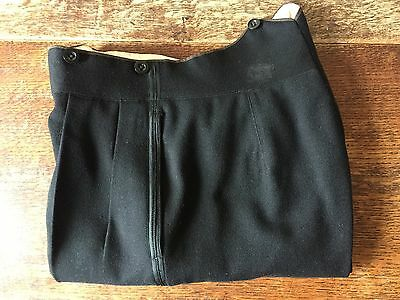 Mens Vintage Bespoke Barsthea Dinner Evening Trousers Size 28 30 Waist