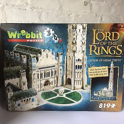 Wrebbit Lord of the Rings Citadel of Minas Tirith 3D Jigsaw Puzzle BOXES DAMAGED