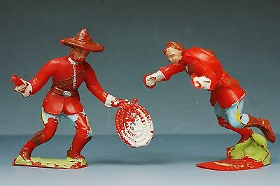 VINTAGE CHERILEA PLASTIC 60mm MOUNTIES in GOOD CONDITION