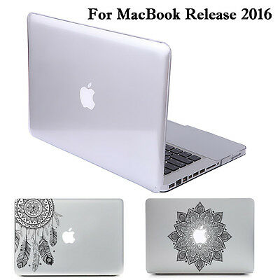 """Clear Hard Case Cover+Sticker Macbook Pro 13"""" 15"""" with/out Touch Bar 2016 A1706"""