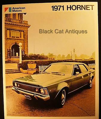 Original 1971 American Motors Hornet Color Fold-Out Brochure From Canada