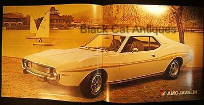 Original 1974 American Motors Javelin/AMX Color Fold-Out Brochure Canada