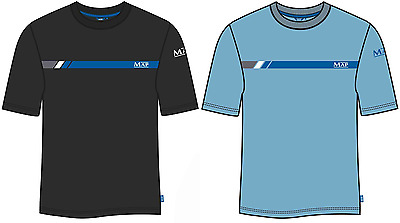 Map Graphic T-Shirt Black & Blue Cotton Coarse Fishing Clothing - All Sizes