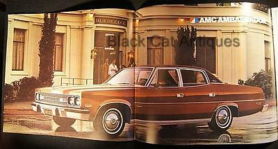 Original 1974 American Motors Ambassador Sedan/Wagon Fold-Out Brochure Canada
