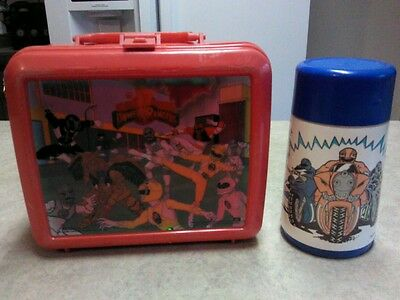 1994 Saban Power Ranger Red Lunchbox and Blue Thermos