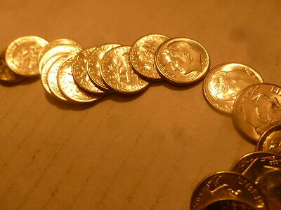 1959 D Dime Roll UnCirculated Silver 50 Coins Roosevelt Dimes Coin