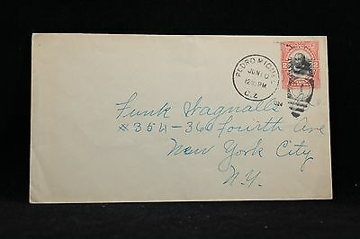 Canal Zone: Pedro Miguel 1924 2c Overprinted Postal Entire Cover to NYC
