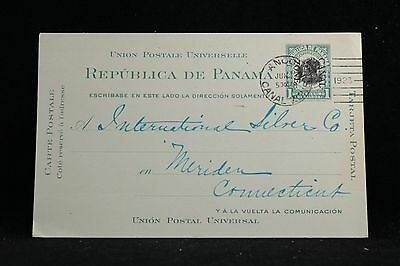 Canal Zone: Ancon 1923 #UX4 Postal Card to International Silver Co in USA