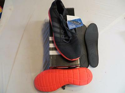 ADIDAS element refine tricot running shoes (B35519) SZ 9 ONIX/RED/BLACK  NIB