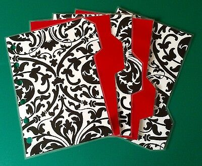Filofax Pocket Organiser - Pretty Black, White & Red Dividers - Fully Laminated