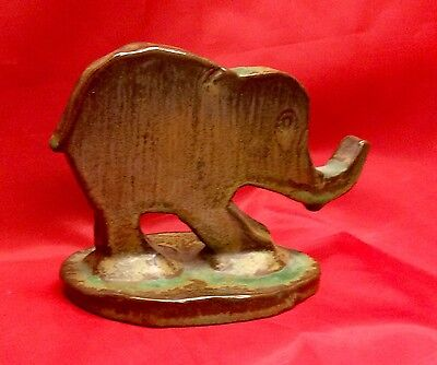 Rare J. B. Cole, N. C. Art Pottery, Commissioned Figural Elephant