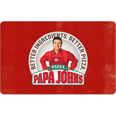 Papa Johns Gift Card $25.00 Value, Only $22.50! Free Shipping!
