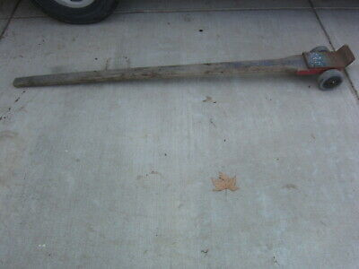 """Louderback 72"""" 84"""" Lever Dolly Pry Bar, Used"""