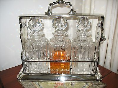 Antique John Grinsell & Sons Silver Plate Tantalus