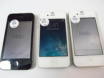 Lot of 3 Apple iPhone 4 8GB (A1349) (Cricket) (Check ESN)_B12