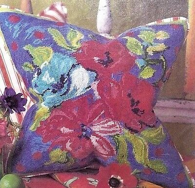DESIGNERS GUILD ANEMONES TAPESTRY NEEDLEPOINT KIT with ANCHOR WOOLS - VINTAGE