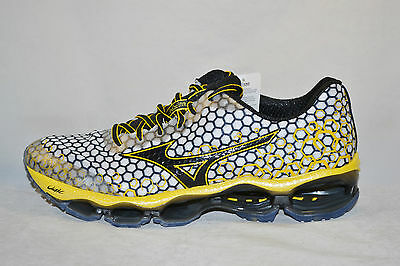 MIZUNO WAVE PROPHECY 3 Mens Running Shoes size 11.5 NEW WHITE BLACK YELLOW