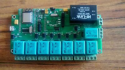 ESP8266 WIFI Eight Relay board on Nodemcu (Smart Strip) Home Automation & IOT