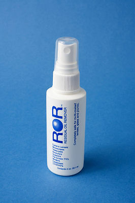 ROR Residual Oil Remover - Lens Cleaner. 2oz Pump Spray Bottle.