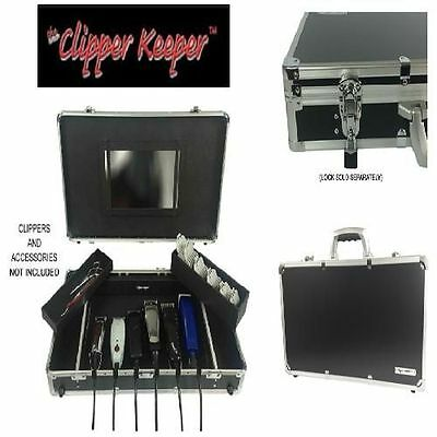 Barber Suitcase Storage Display Station Organizer Clipper Trimmer Scissor Keeper