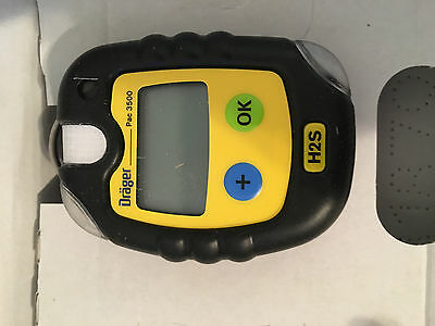 Drager Pac 3500 H2S Personal Hydrogen Sulfide Gas Monitor