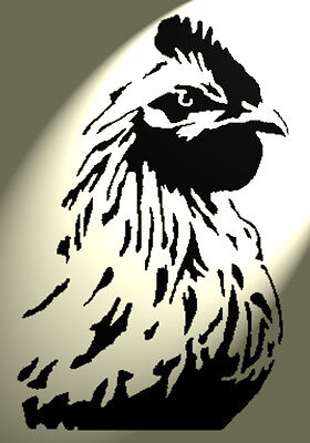 Shabby Chic Stencil Cockerel rooster chicken design B Vintage A4 297x210mm