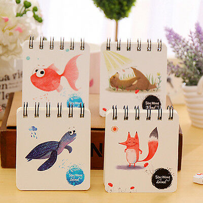 Cute Animal Flower Spiral Bound Notebook Diary School Stationary Gracious