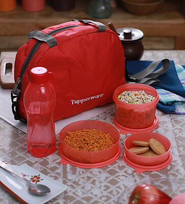 Brand New Tupperware Sling A Bling Lunch Set - Set of 5 including bag
