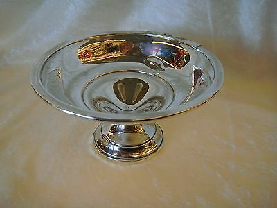 Vintage PREISNER Silver Weighted Pedestal Footed Candy Nut Dish Bowl - Small