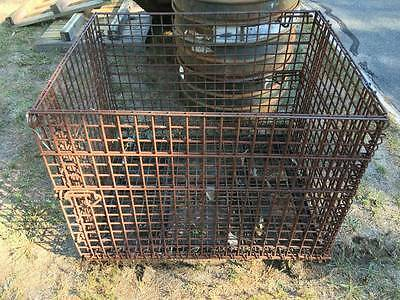 Industrial Metal Wire Collapsible Storage Bin Container Stock Bulk Basket Tote