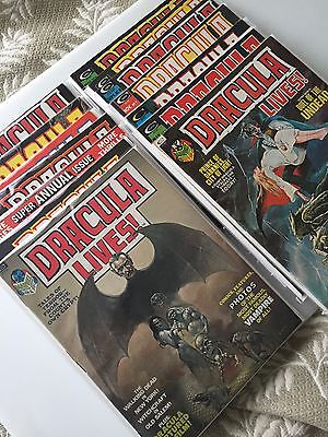 MARVEL DRACULA LIVES! LOT OF 14 ISSUES annual included 7.0-9.0  HIGH GRADE LOT!