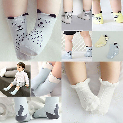 Baby Boys Girls Socks Non-Slip Cartoon Cotton Socks NewBorn Infant Toddler USA