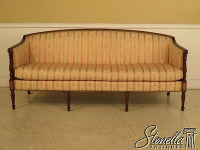 28806BE: HICKORY CHAIR CO. Sheraton Mahogany Sofa