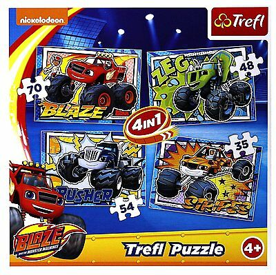 Puzzle 35 pièces 4 Puzzles - Blaze and the Monster Machines (58151)
