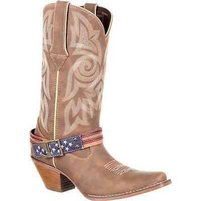 Durango Crush Women's Flag Accessory Western Narrow Square Toe Boots DRD0208