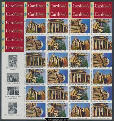 1993 Full sheet 36 Christmas seals & 32 card stickers