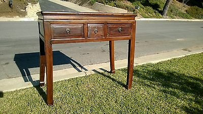 Vintage Chinese Table With Three Drawers