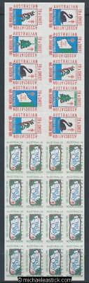 1991 block of 26, Australian TB & Chest Association WA Division Christmas seals