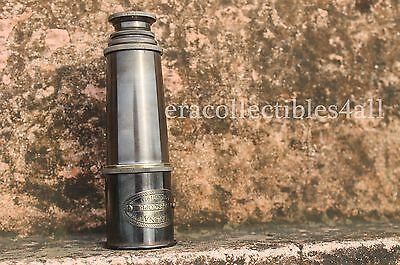 Antique Nautical Telescope Brass Pirate Spyglass Scope Collectible.