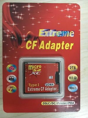 Micro SD SDHC to Compact Flash CF 1 Type I Card Adapter Converter 16GB 32GB 64GB
