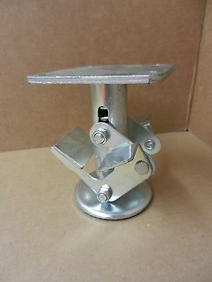 """5"""" Floor Lock For Casters 5-1/2"""" Retracted Height 4 X 4-1/2"""" Top Plate - New"""
