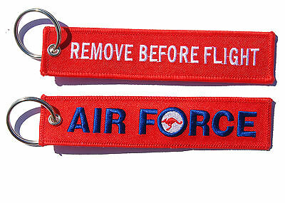Air Force Remove Before Flight Key Ring Luggage Tag