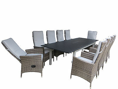 xxl sitzgruppe polyrattan gartenlounge set sitzgarnitur gartenm bel sitzecke eur 349 90. Black Bedroom Furniture Sets. Home Design Ideas