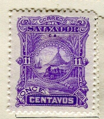 EL SALVADOR;  1891 early classic issue Mint hinged 11c. value
