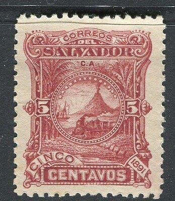 EL SALVADOR;  1891 early classic issue Mint hinged 5c. value